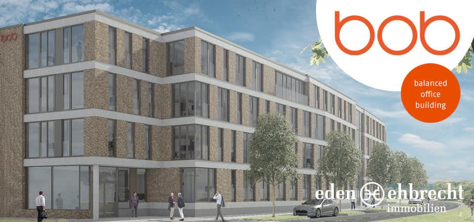 Das BOB - Balanced Office Building im Alten Stadthafen haben wir auch in der Vermarktung. Fertigstellung ist September 2018.