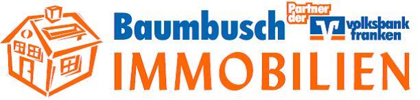 Hier sehen Sie das Logo von Baumbusch Immobilien - Partner der Volksbank Franken eG