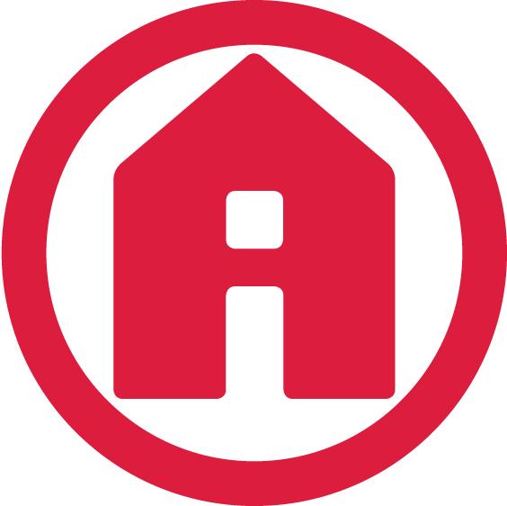 Die Immobilie in einem sicheren Kreis: das Logo von DÖRING IMMOBILIEN