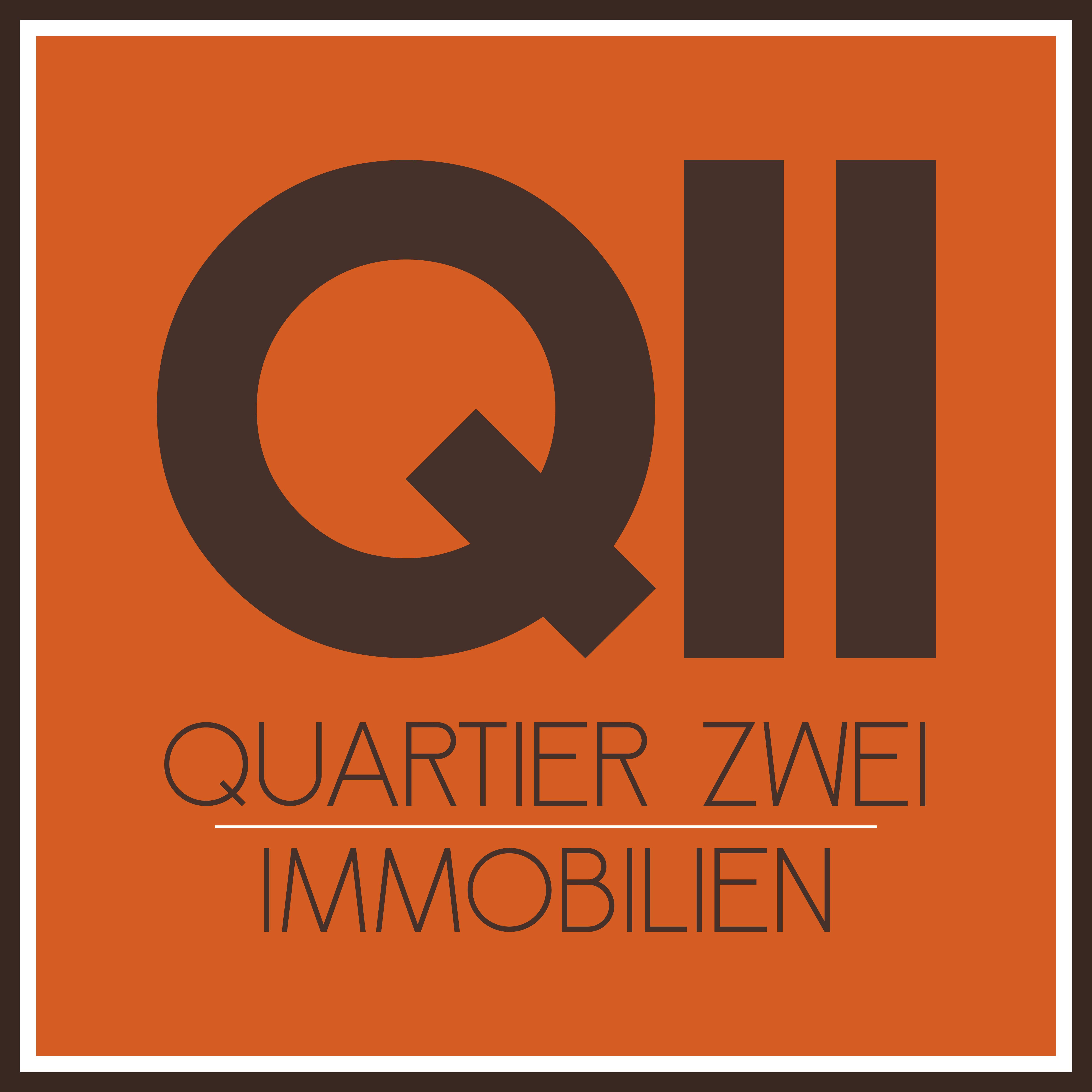 Hier sehen Sie das Logo von QUARTIER ZWEI IMMOBILIEN