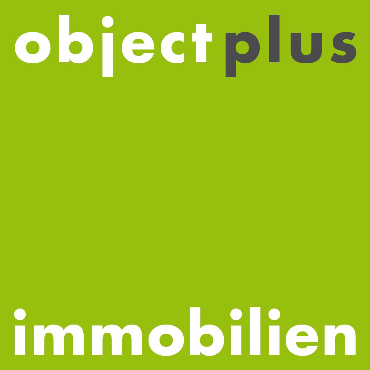 Hier sehen Sie das Logo von object plus / immobilien