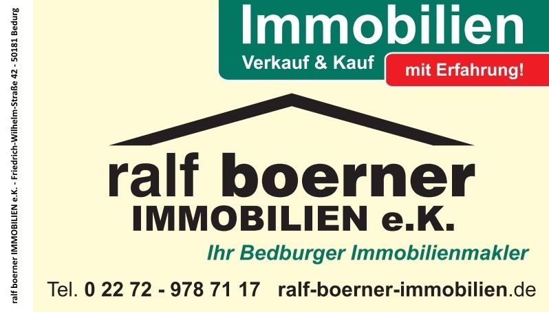 Hier sehen Sie das Logo von Ralf Boerner Immobilien e.K.