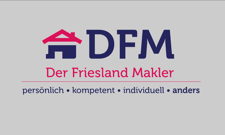 Hier sehen Sie das Logo von DFM - Der Friesland Makler e.K.