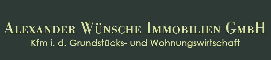 Hier sehen Sie das Logo von Alexander Wünsche Immobilien GmbH