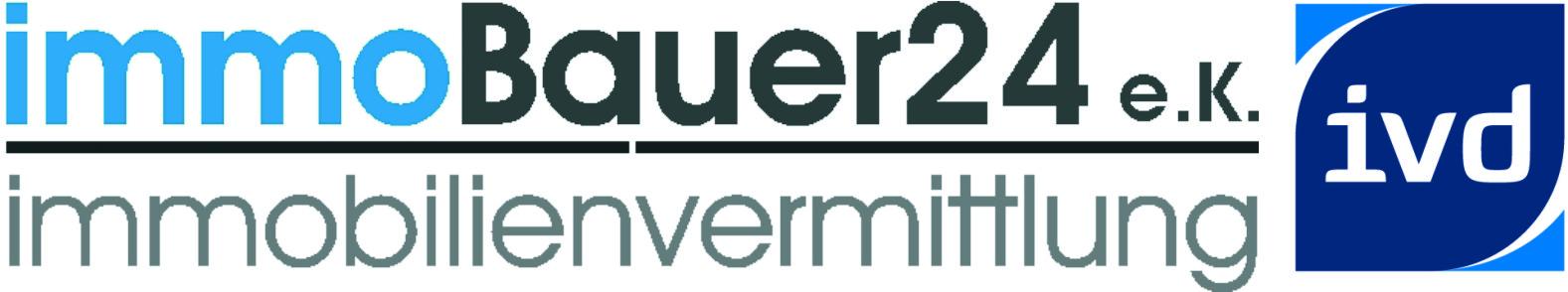 Hier sehen Sie das Logo von immoBauer24 e.K.