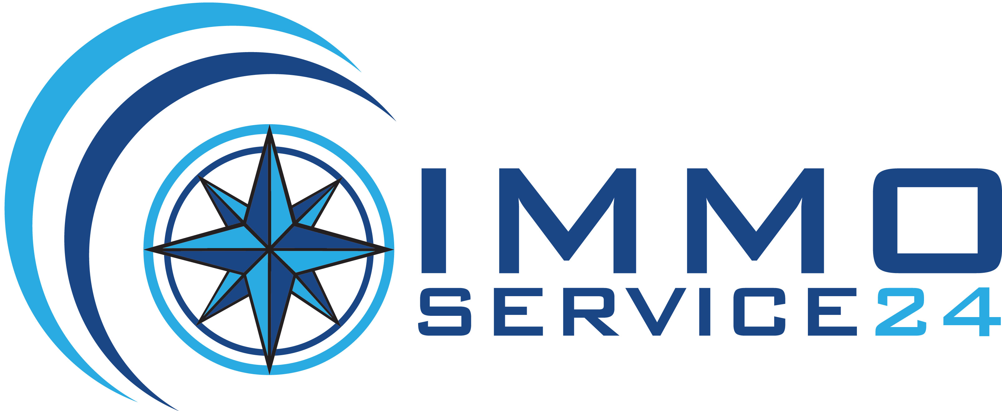 Hier sehen Sie das Logo von IMMO-SERVICE 24