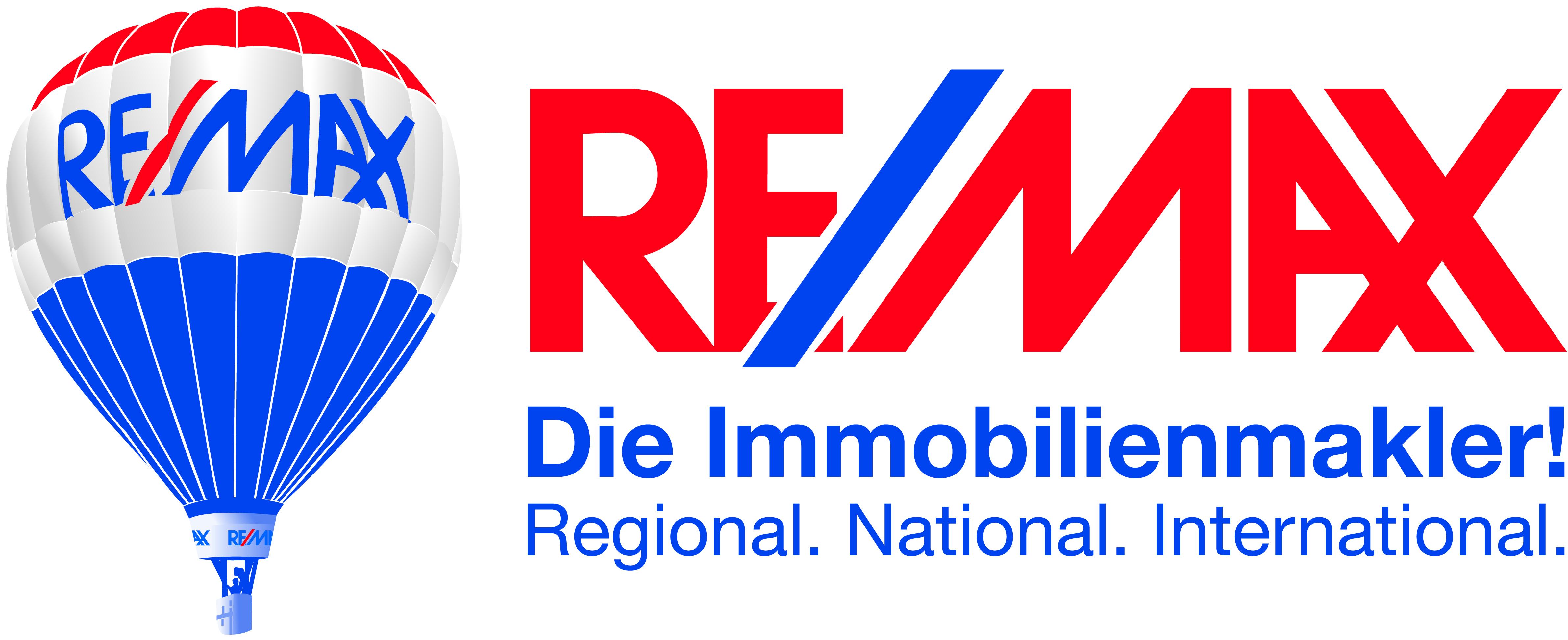 Hier sehen Sie das Logo von RE/MAX Stein & Ansbach