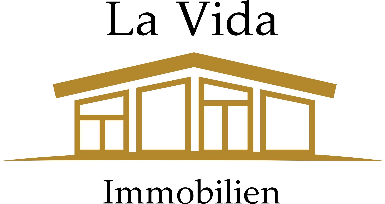 Hier sehen Sie das Logo von La Vida Immobilien