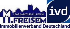 Hier sehen Sie das Logo von M. Freisem Immobilien IVD