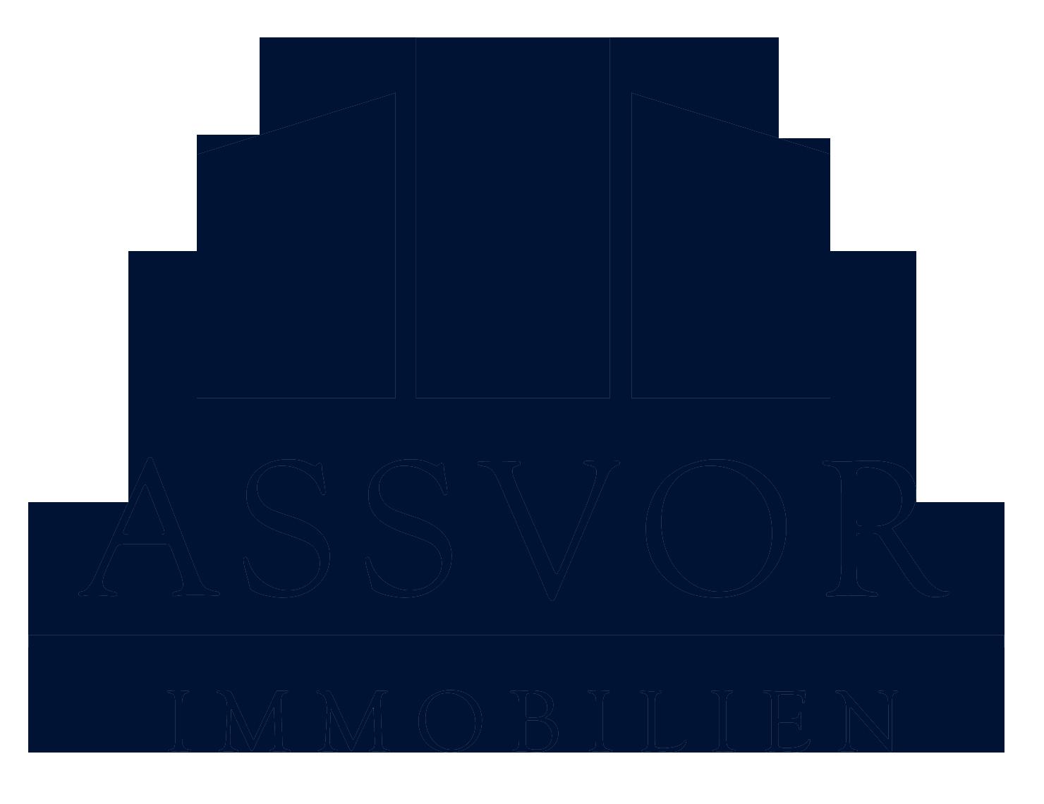 Hier sehen Sie das Logo von ASSVOR Immobilien