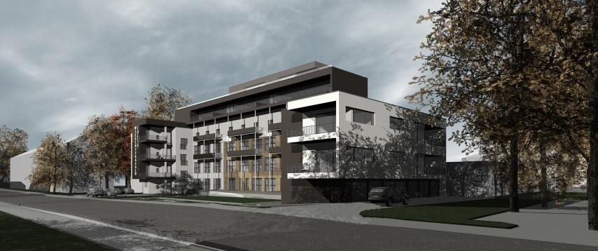 Integrierter Altbau in modernes Gebäude