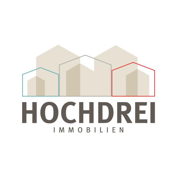 Hier sehen Sie das Logo von Hochdrei Immobilien GmbH