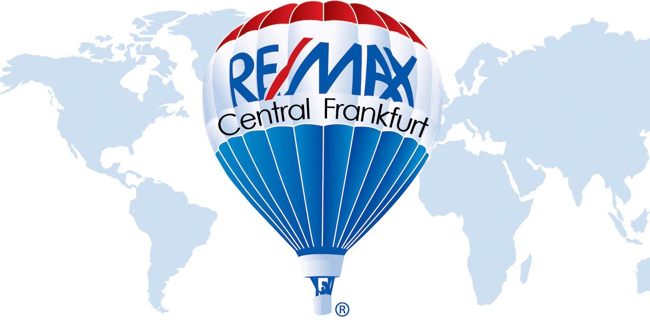 Hier sehen Sie das Logo von RE/MAX Central Frankfurt