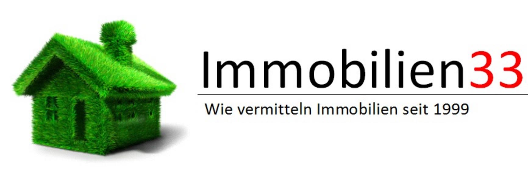 Hier sehen Sie das Logo von Immobilien33