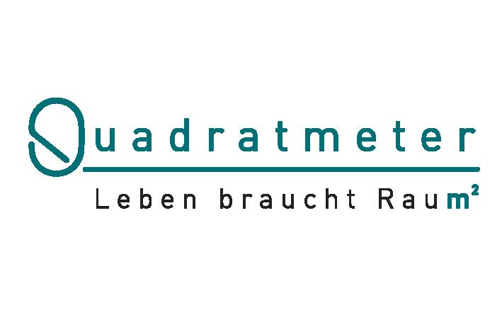 Hier sehen Sie das Logo von QUADRATMETER-Leben braucht Raum²