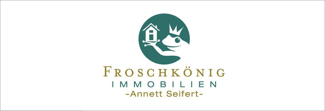 Hier sehen Sie das Logo von Froschkönig Immobilien - Annett Seifert