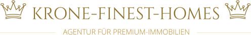 Hier sehen Sie das Logo von Krone Finest Homes - Agentur für Premiumimmobilien