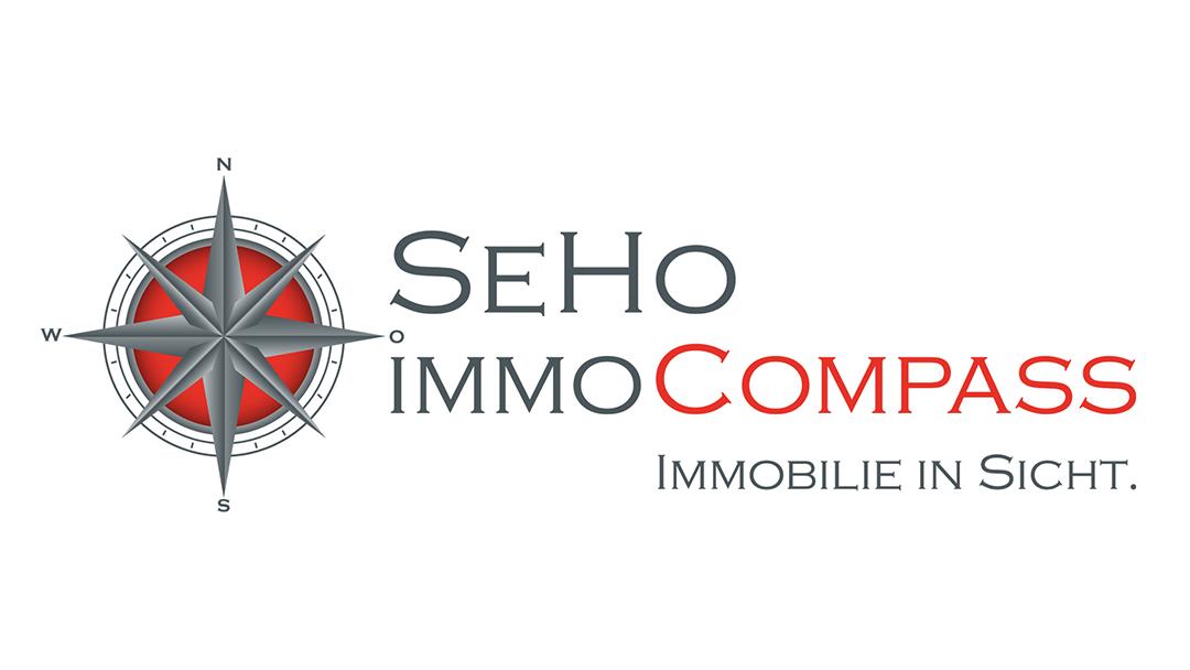 Hier sehen Sie das Logo von SeHo-ImmoCompass Projektentwicklung GmbH & Co. KG