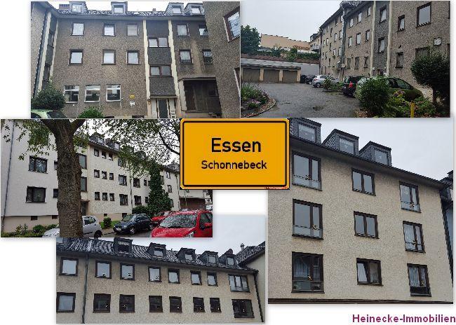 27 Eigentumswohnungen (2-3 Zimmer) plus 5 Garagen in Essen-Schonnebeck zu verkaufen. Alle Wohnungen sind vermietet. Wohnfläche 1.566m², Grundstück 1.682m², Mieteinnahmen 155.501,88€ p.A (brutto) Kaufpreis: 1.690.000,00 €