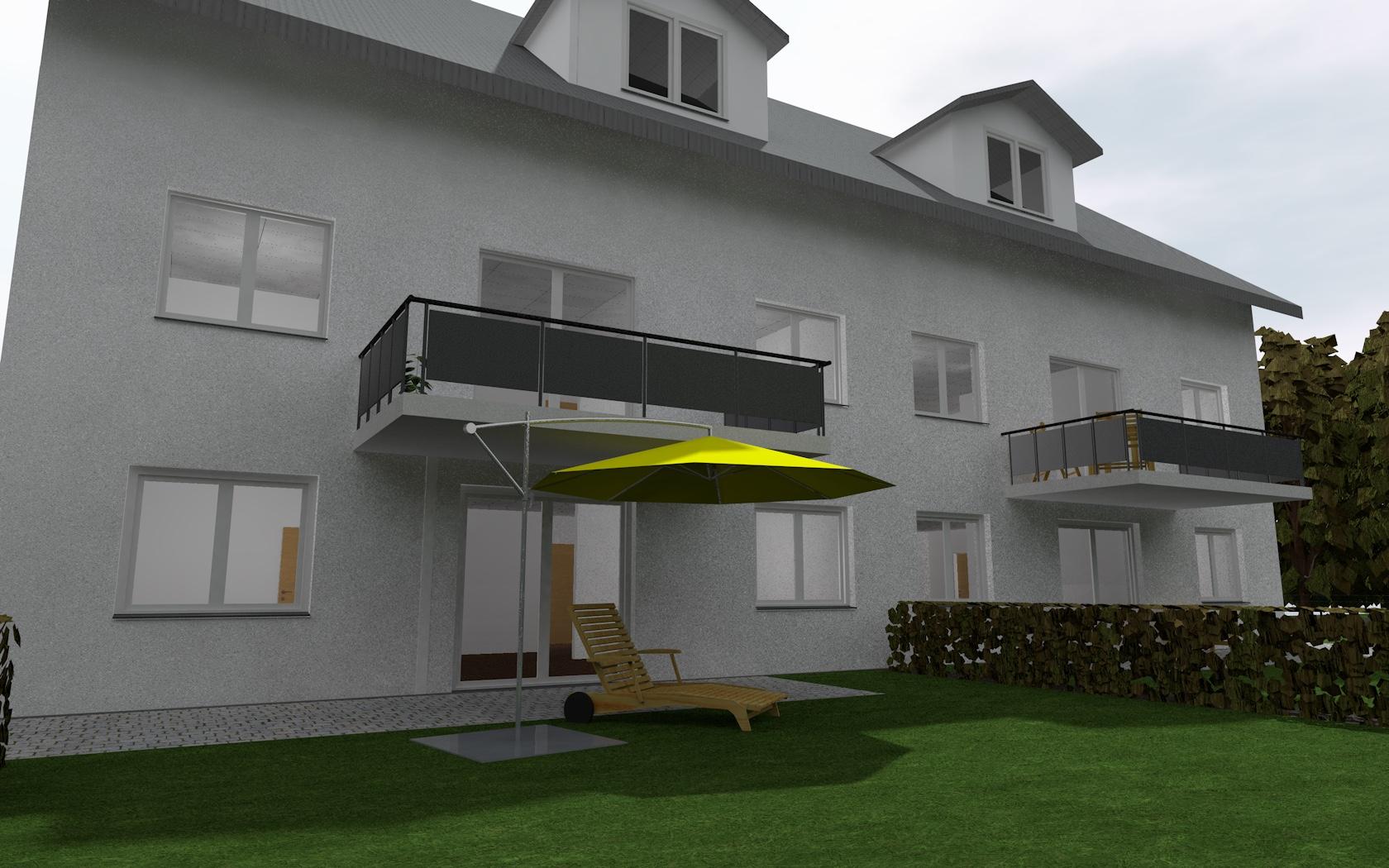 Projektiertes Mehrfamilienhaus für die Vermarktung von Eigentumswohnungen.
