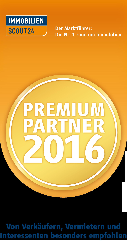 Immobilienscout 24  Bewertungen  Premium Partner 2016