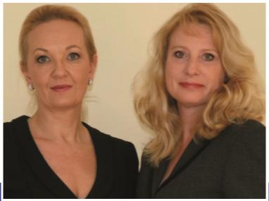 Frau Dipl.- Ing. oec. Sylvia Blume und Frau Dipl. Kffr. Britta Hulsman