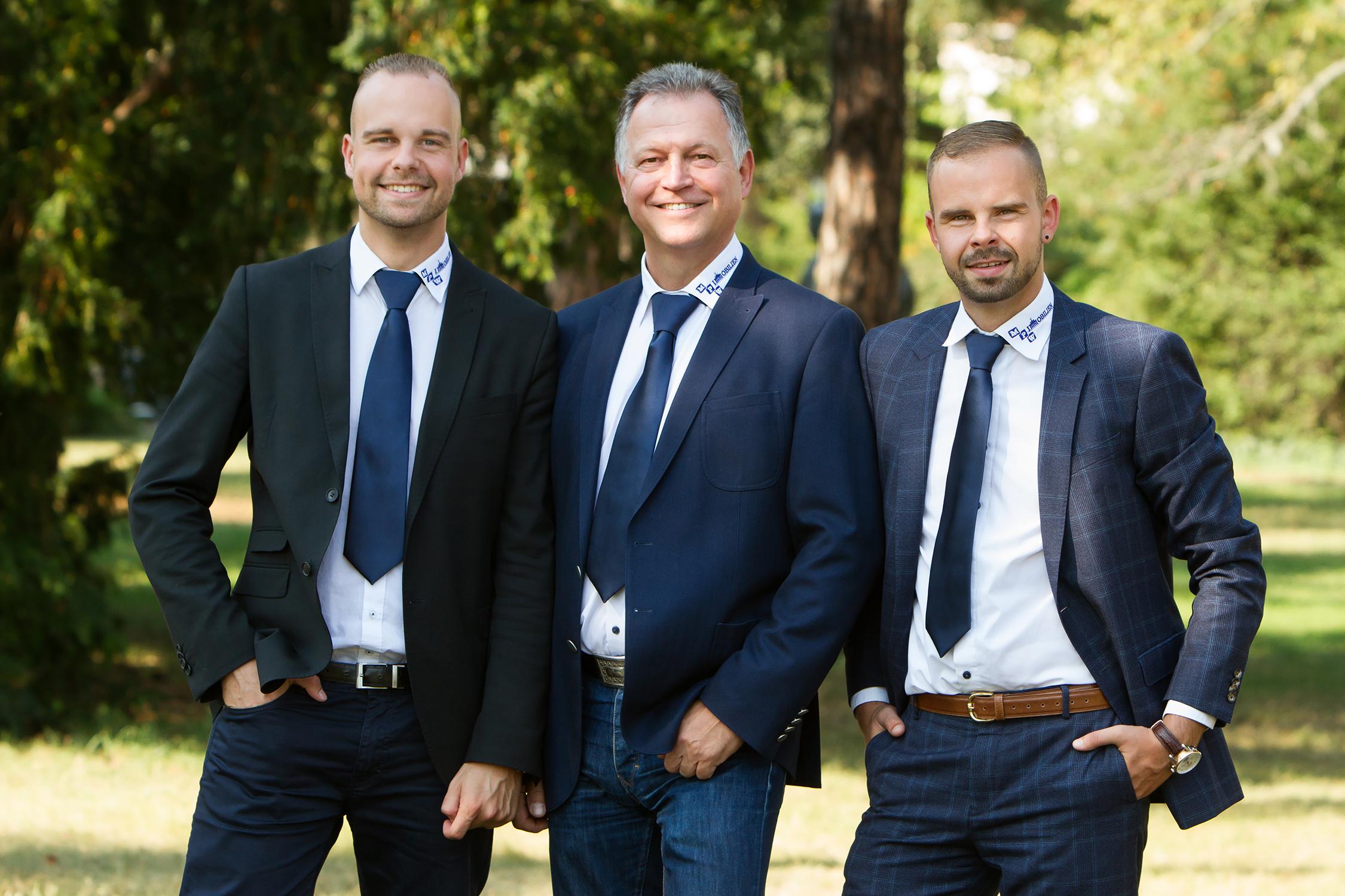 Die Makler Daniel Werner, Michael Werner, Christian Werner (von links nach rechts)