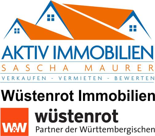 Hier sehen Sie das Logo von Aktiv Immobilien/ Wüstenrot Immobilien Sascha Maurer