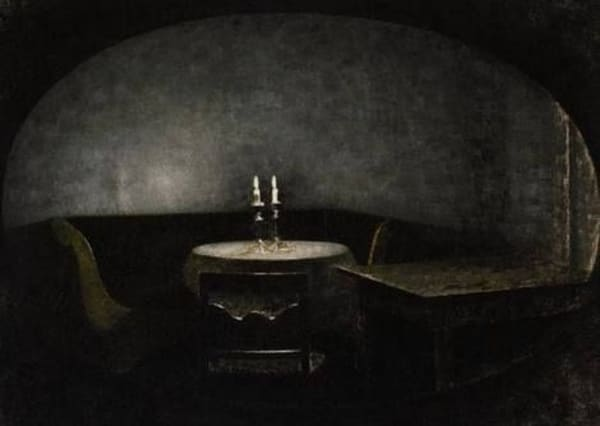 【室内、蝋燭の明かり|1909】