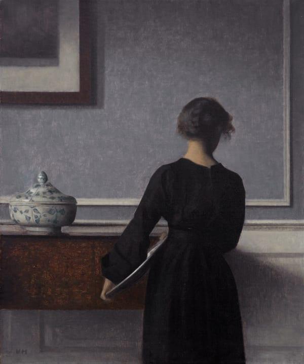 【背を向けた若い女性のいる室内|1903-04】