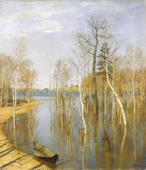 イサーク・レヴィタン-春、大水