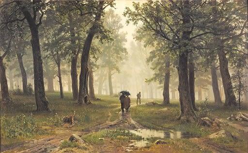 シーシキン-雨の樫林