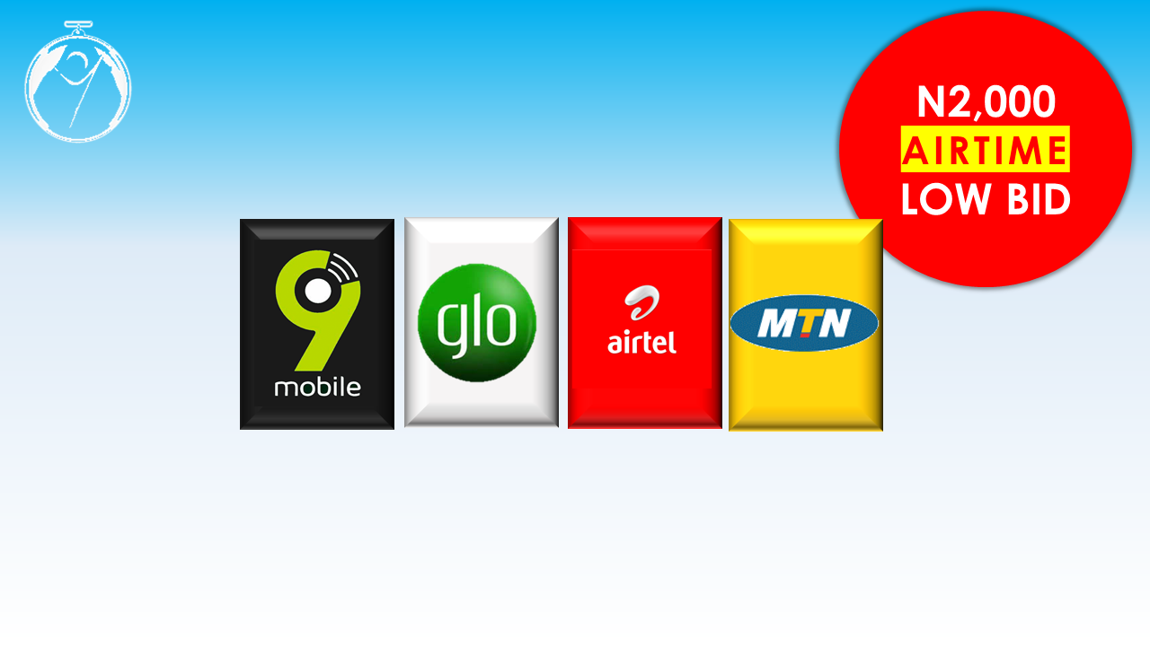 AIRTIME OFFER: N2,000 Airtime to Any Network- 9pay Bids - 9pay