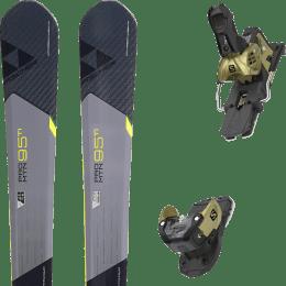 Pack ski alpin FISCHER FISCHER PRO MTN 95 TI 17 + SALOMON WARDEN MNC 13 N GOLD 20 - Ekosport