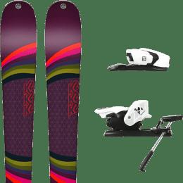 Pack ski alpin K2 K2 MISSCONDUCT + SALOMON Z12 B90 WHITE/BLACK - Ekosport