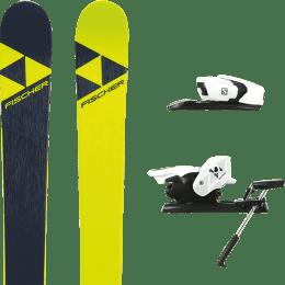 Pack ski+fix FISCHER FISCHER NIGHTSTICK 21 + SALOMON Z12 B90 WHITE/BLACK 21 - Ekosport