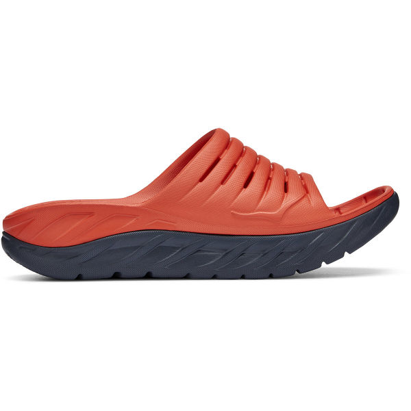 HOKA ONE ONE Tong de récupération Ora Recovery Slide 2 Fiesta / Ombre Blue Homme Rouge taille 7
