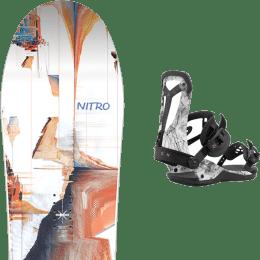 Snowboard NITRO NITRO SANTOKU 21 + UNION FALCOR ARCTIC WHITE 21 - Ekosport