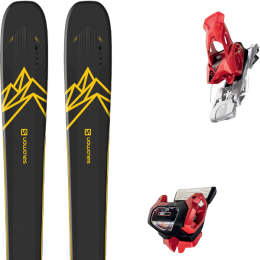 Pack ski alpin SALOMON SALOMON QST 92 DARK BLUE/YELLOW 20 + TYROLIA ATTACK² 13 GW W/O BRAKE [A] RED 20 - Ekosport