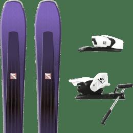 Pack ski+fix SALOMON SALOMON AIRA 84 TI PURPLE/BLACK 20 + SALOMON Z12 B90 WHITE/BLACK 21 - Ekosport