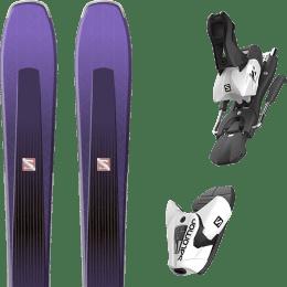 Pack ski alpin SALOMON SALOMON AIRA 84 TI PURPLE/BLACK 20 + SALOMON Z12 B100 WHITE/BLACK 21 - Ekosport