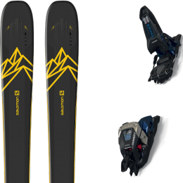 Collection SALOMON SALOMON QST 92 DARK BLUE/YELLOW 20 + MARKER DUKE PT 16 100MM BLACK/GUNMETAL 21 - Ekosport