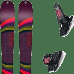 Pack ski alpin K2 K2 MISSCONDUCT + MARKER GRIFFON 13 ID ANTHRACITE/BLACK/RED - Ekosport