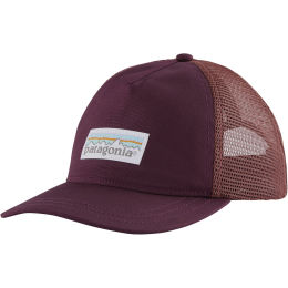 PATAGONIA W'S PASTEL P-6 LABEL LAYBACK TRUCKER HAT CHICORY RED 21