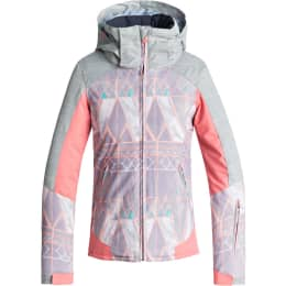 Vêtement de ski ROXY ROXY SASSY GIRL JK MINIMAL GREY_MOSAIC 19 - Ekosport