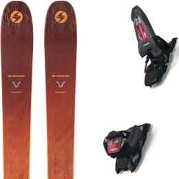 BLIZZARD COCHISE 106 21 + MARKER GRIFFON 13 ID ANTHRACITE/BLACK/RED 21