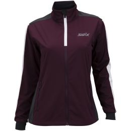 SWIX CROSS JACKET WOMEN DARK AUBERGINE 21