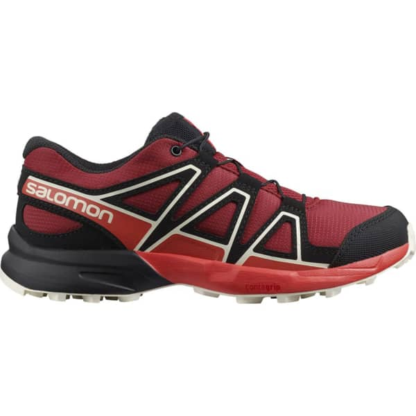 SALOMON Chaussure trail Speedcross J Red Dahlia/cherry Tomato/vanilla Ice Enfant Noir/Rouge taille 33