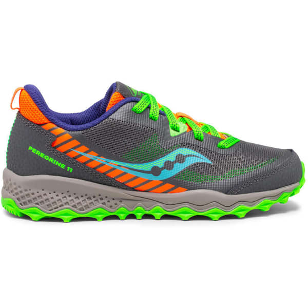 SAUCONY Chaussure trail S-peregrine 11 Shield Jr Grey/green Enfant Gris/Vert taille 1