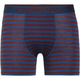 ICEBREAKER MENS ANATOMICA BOXERS ESTATE BLUE/REDWOOD 21